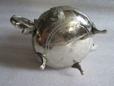 Rare Antique Moroccan Arabic Islamic Handmade Silver Alloy Tea Pot Kettle Signed 5