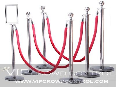 60 Yellow//Gold Braided VIP Crowd Control Gold Crown Top Decorative Rope Safety Queue Stanchion Barrier in 3 pcs Set