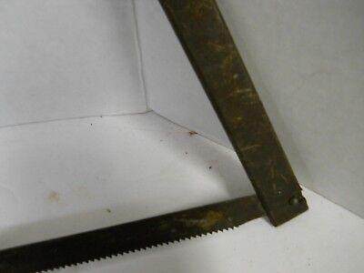 "Vintage Meat Bone Saw Butchers Cutting Tool Wood Handle 18"" Blade Man Cave Decor 7"