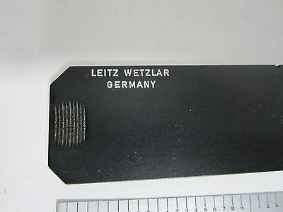 Leitz Slide Filtre Microscope Tel Quel Bin #J3-23 3