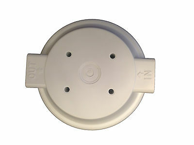 "10"" White Housing For Reverse Osmosis Water Filters With 1/2"" Female Port 4"