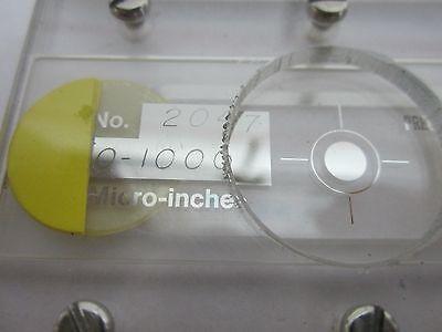 Microscope Réticule Roger Sherman Résolution Cible Microns Optiques Tel Quel Bin 2