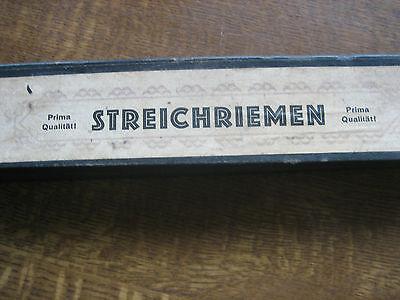 Streichriemen Abziehriemen Rasierstreichriemen antik alt Original 2