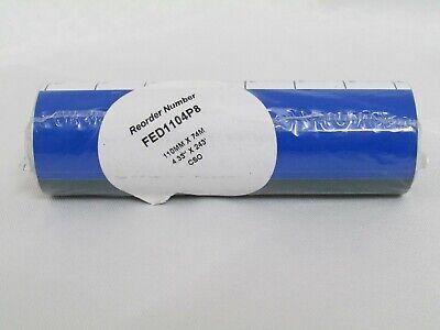 6 Rolls Wax 4.33 x 243 Thermal Transfer Ribbon 110x74 Zebra 2844 TLP Eltron