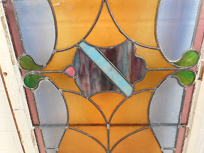 Vintage Stained Glass Window Panel (3089)NJ 6