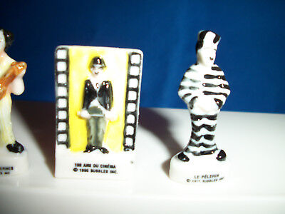"""CHARLIE CHAPLIN Holding Wrench /""""MODERN TIMES/"""" Miniature Figurine Porcelain FEVES"""