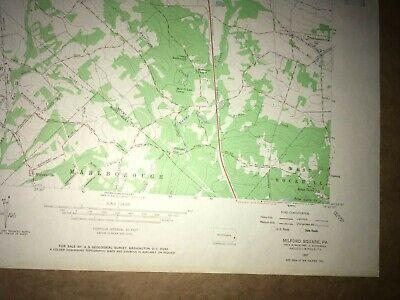 Milford Square PA Bucks Co USGS Topographical Geological Survey Quadrangle Map 5