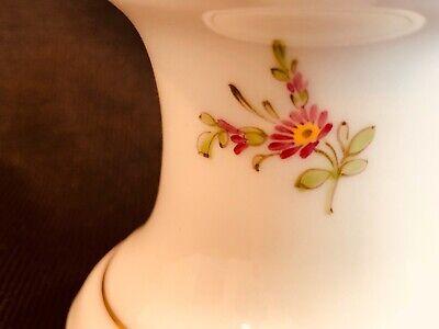 Hochst Floral Candleholder Hand Painted Porcelain New 4