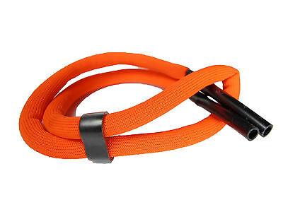 2 x Brillenband schwimmfähig neon Orange+Schwarz Brillenkordel für Wassersport.