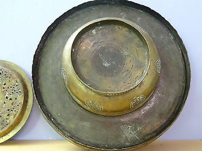 Antique Islamic / Ottoman / Persian  Arabic Copper or Brass hand wash dish bowl 11 • CAD $1,066.07