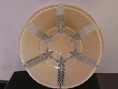Antique 3 Chain  Glass  Light Shade<>milky tan color 2