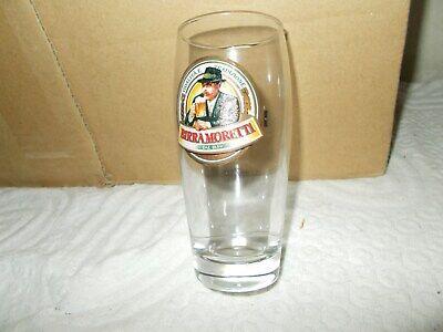 Raro bicchiere birra moretti 0.2l CON DIFETTO DI FABBRICA collezione bar vintage 3