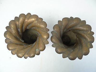Antique Old Repoussé Hand Hammered Metal Copper Ornate Decorative Planters Urns 6