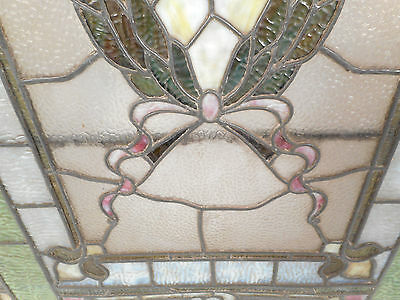 Vintage Stained Glass Window Panel (2939)NJ 8