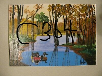 "P1-C413  Print Of Original Acrylic Painting By Ljh     ""Lake In Woods"" 4"