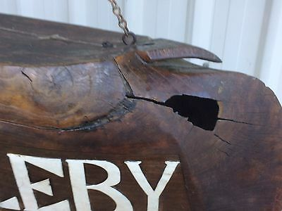 Antique Hand Carved Wooden Water Buffalo Bell/ Gallery Signage 2