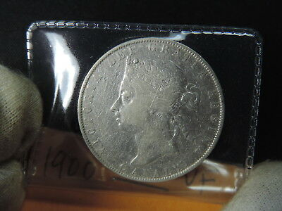 1900 50 Cent Coin Canada Victoria Fifty Cents .925 Silver VF Grade 6
