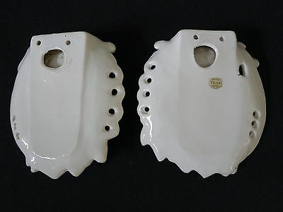 PAIR victorian style VINTAGE wall pockets boy girl Tilso Japan guitar pastel