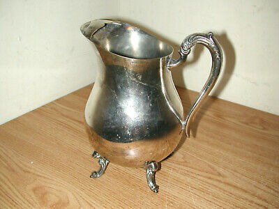 Vintage F.b. Rogers Silver Plated Footed Water Pitcher With Ice Guard 6