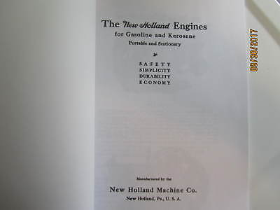 1917 New Holland Machine Co Gas Engine Instruction/Info  Manual 2