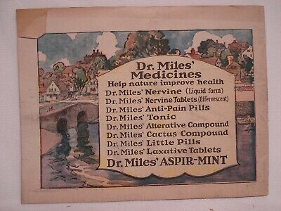 1920'S Dr Miles Written Proofs Quack Medicine Tract Booklet 2