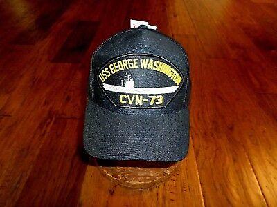 100/% Cotton Military Black Bucket Cap Hat USS GEORGE WASHINGTON CVN-73 BATTLE