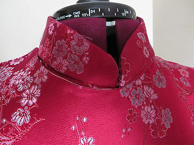 HALF PRICE!!  SILK BROCADE Traditional Oriental Chinese Cheong Sum Dress - L 6