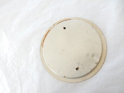CLOCK OR BAROMETER BACK PLATE ART DECO ERA  113 MM ACROSS INDENT 102 mm diam