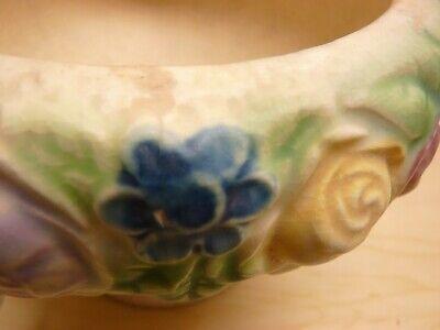 Roseville Pottery Rozane 1917 Floral Compote / Vase / Urn / Planter 7