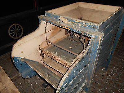 Reinigungsmaschine antik bäuerliche Gerätschaft 3