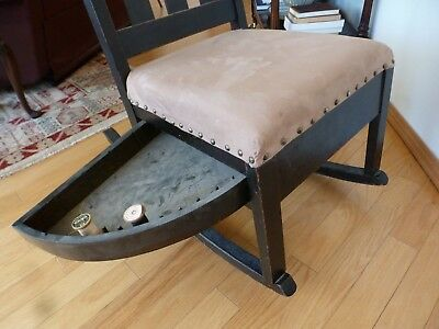 Rocking Chair with a Sewing Drawer, 1910, Craftsman style 3