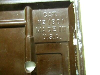 Sem Co 1801 USA Brown Bakelite Antique Switch Wall Plate Cover Fine Lines Dots 7