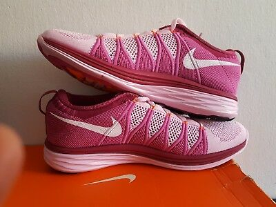 Womens Nike Flyknit Lunar2 Pink Trainers 620658 615