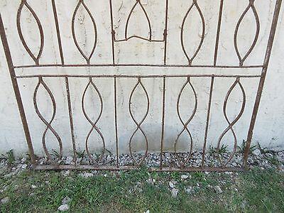 Antique Victorian Iron Gate Window Garden Fence Architectural Salvage Door #630 5