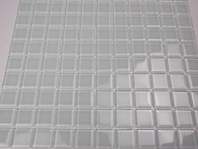 GLASMOSAIK MOSAIK FLIESEN Klarglas Weiß Bad Dusche Pool Küche Sauna - Mosaik fliesen duschboden