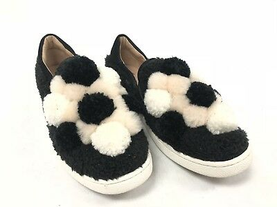 0e55f181d99 UGG AUSTRALIA RICCI Pom Pom Shoe Slip On 1092576 Women's Black Shoes