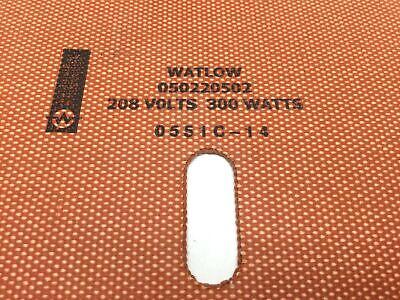 "Watlow 050220502 Silicone Rubber Heater Length: 22"", Width: 5"" 208V, 300W 5"