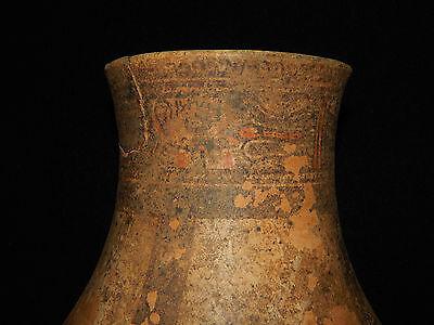 Pre-Columbian Pedestal Urn, Chimney Pot,Polychrome, Nicoya, Very Large 5