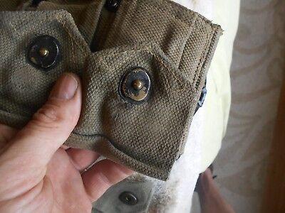 WW2 USGI  M-1 garand cartridge belt 10 pocket klikit pull early war 3