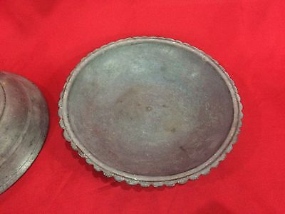 Gorgeous Antique Islamic Bronze Plate Ottoman Handmade Imperial Plate Persian