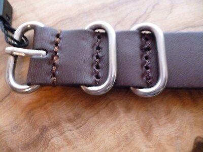 18mm Yisuya G10 Zulu Sports NATO Military Army Black Leather  Strap  UK Supplier