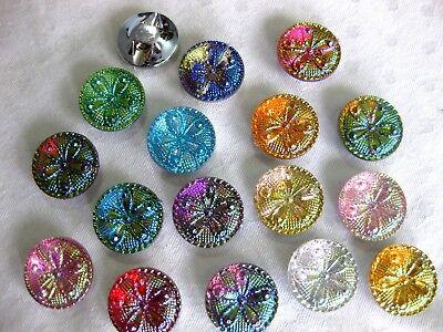 10 Knöpfe oval in verschiedenen Farben,Farbe wählbar,18x25 mm,Kunststoff   K31