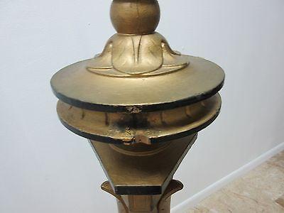 Antique Victorian Masonic Mason Taper Pole Lamp Light Lighting 9