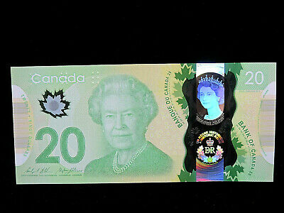"2015 $20 Dollar Bank of Canada Banknote ""Young Queen"" Holographic GUNC #FWS Bill 2"