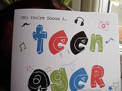 2 Of 6 Handmade Personalised Modern Boys Teenager 13th Birthday Card Son Friend Etc
