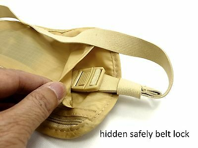 Travel Pouch Security Tips Travel Passport Secret Waist Belt Bag Secure Wallet 6