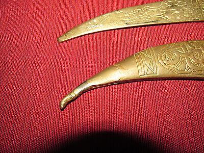 Antique Russian/persian Letter Opener Knife Kinjal, Heavy Brass 11