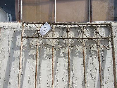 Antique Victorian Iron Gate Window Garden Fence Architectural Salvage Door #347 2