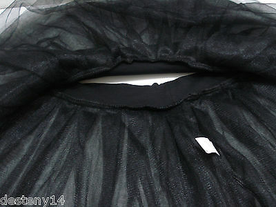 67f39bb15c ... Claire's Junior Ladies Black Tutu Skirt Ballerina Dance Class Size L/  XL New 8
