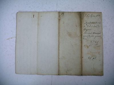 vieux papier 1812 quittance ardèche st pierreville timbre acte notarié 2